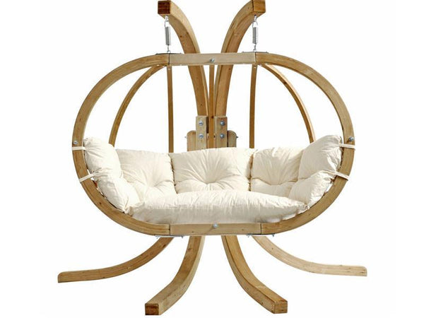 Amazonas Globo Royal Double Seater Hanging Chair with Stand Natura - Cool Hammocks
