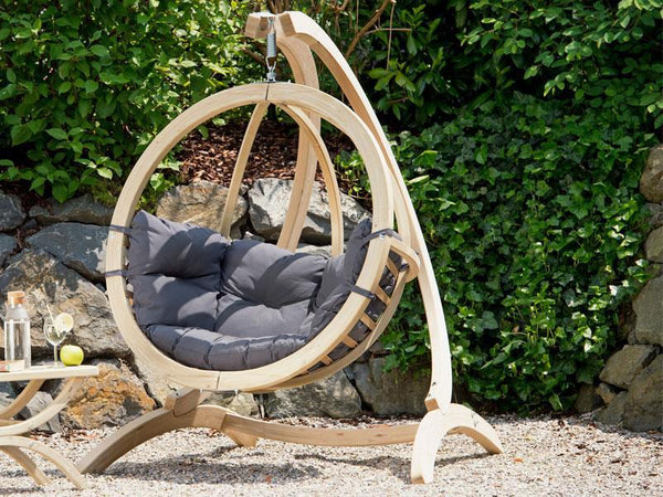 Amazonas Globo Single Seater Hanging Chair with Stand Anthracite - Cool Hammocks