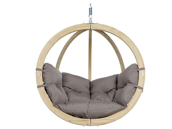 Amazonas Globo Single Seater Hanging Chair Taupe - Cool Hammocks
