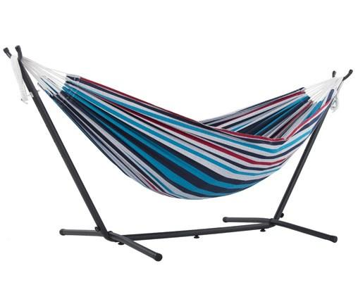 Cotton Double Hammock with Metal Stand