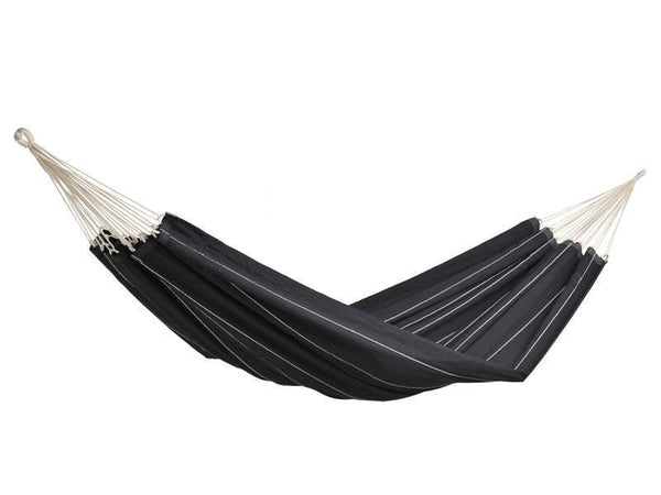 Amazonas Barbados Double Hammock with Wooden Stand | Hammock Set Black - Cool Hammocks