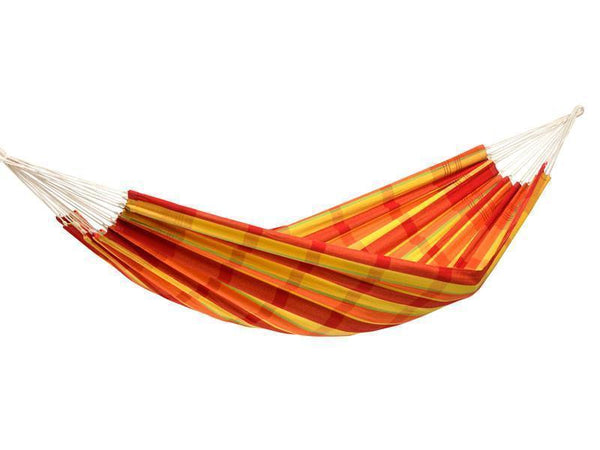 Amazonas Barbados Double Hammock with Wooden Stand | Hammock Set Papaya - Cool Hammocks