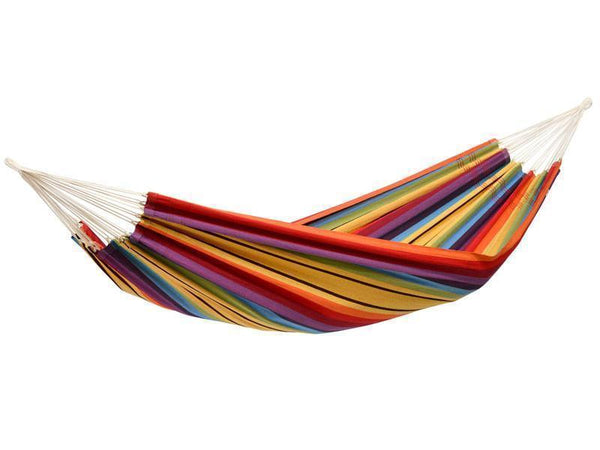 Amazonas Barbados Double Hammock with Wooden Stand | Hammock Set Rainbow - Cool Hammocks