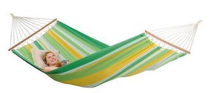 Amazonas Brasilia Spreader Bar Single Hammock with Wooden Stand | Hammock Set Apple - Cool Hammocks