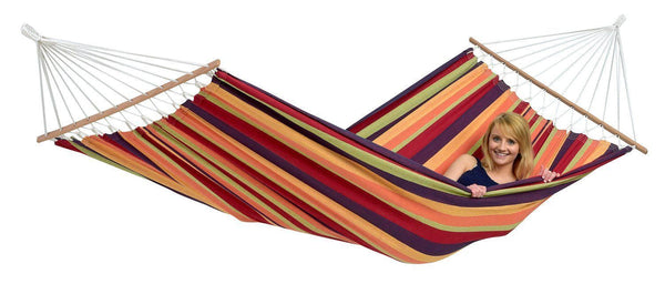Amazonas Brasilia Spreader Bar Single Hammock with Wooden Stand | Hammock Set Tropical - Cool Hammocks