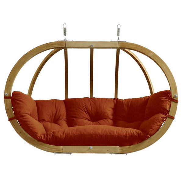 Amazonas Globo Royal Double Seater Hanging Chair Terracotta - Cool Hammocks