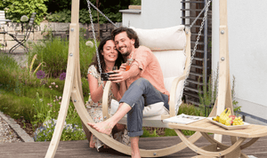 Amazonas Fat Chair with Taurus Wooden Stand Creme - Cool Hammocks