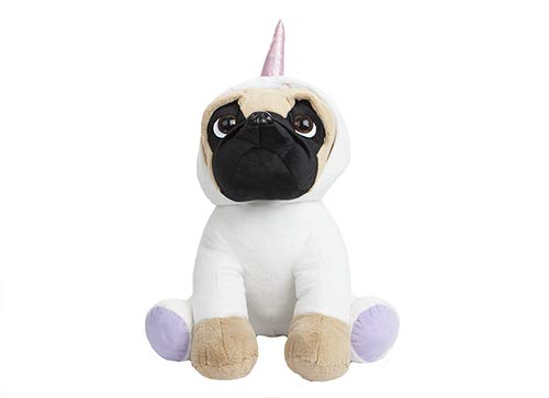 Pugs and Kisses Super Deluxe Extra Large Pug Unicorn Outfit Plush Mega XL Size 20""