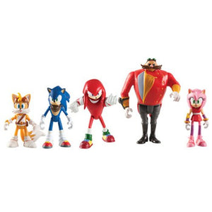 DAMAGED BOX - Sonic The Hedgehog - Multi Pack - Sonic Boom 5 Figure Set Amy Tails Knuckles Eggman