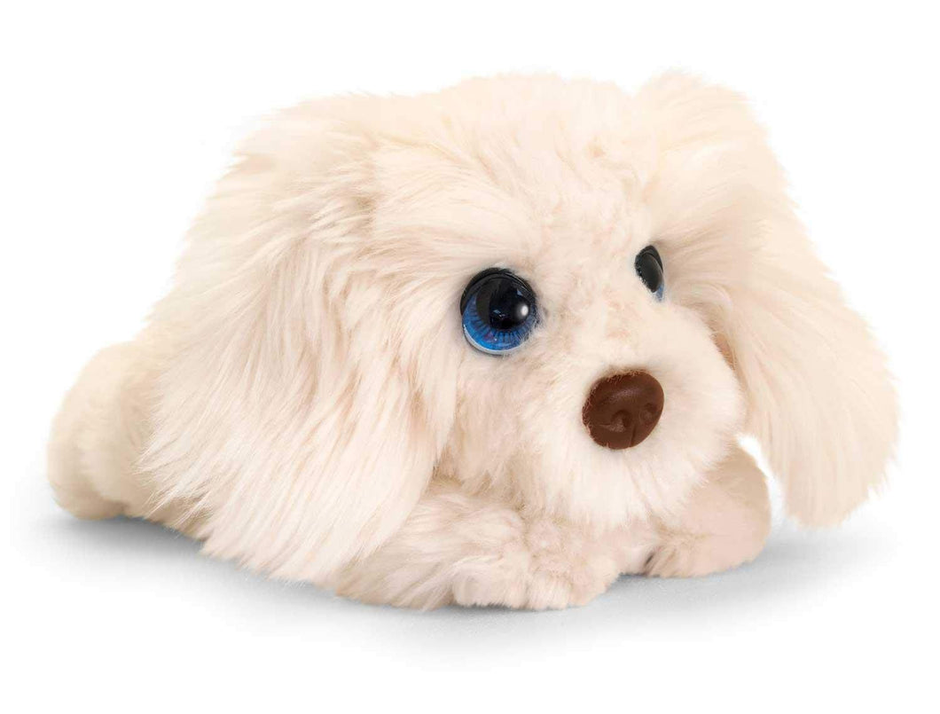 Keel Toys SD2543 Soft Toy Signature Cuddle Puppy Labradoodle, Cream 32cm