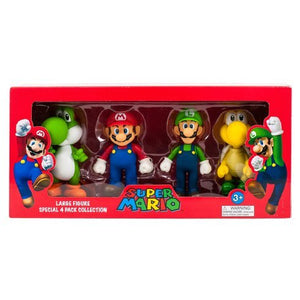 Box Damaged - Super Mario Large 4 Figure Collection Pack