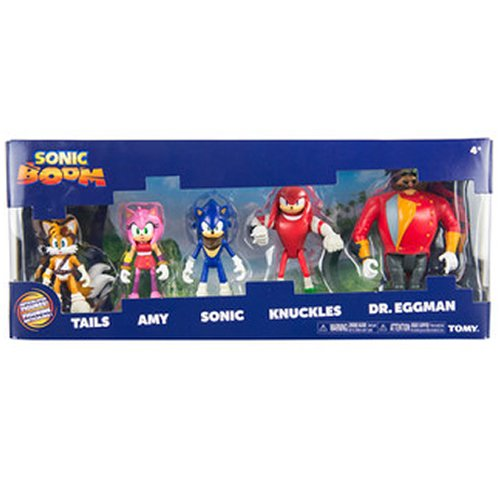 Sonic The Hedgehog - Multi Pack - Sonic Boom 5 Figure Set Amy Tails Knuckles Eggman