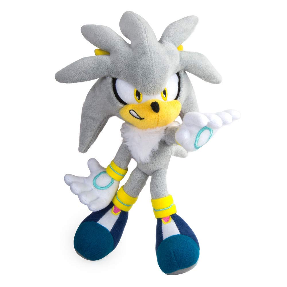 TOMY Sonic Modern Collector Plush Sonic the Hedgehog, Silver