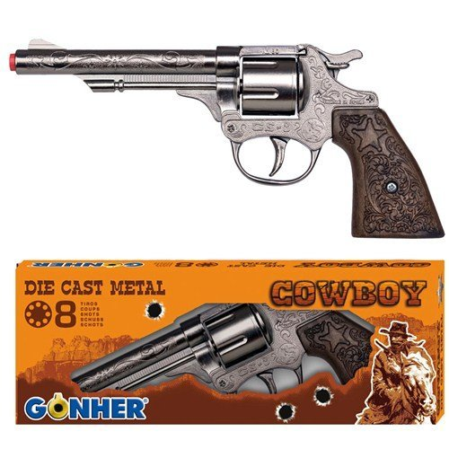 Box damaged - Gonher Diecast Metal 8 Ring Cowboy Accessory Dress Up Toy