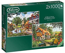 Jumbo 11248 Falcon de Luxe A Beautiful Summer's Day 2 x 1000 Piece Jigsaw Puzzles