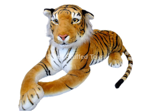 Deluxe Paws Large Brown Tiger Stuffed Soft Plush 160cm 63