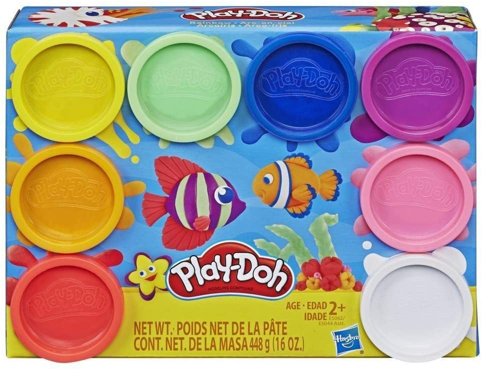 Play-Doh 8-Pack Neon Or Rainbow Non-Toxic Modelling Compound with 8 Colours