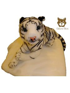 White Brown Tiger Leopard Lion Panther 100 cm - 350 cm Deluxe Paws® (Body 20cm Total 30cm, White Tiger)