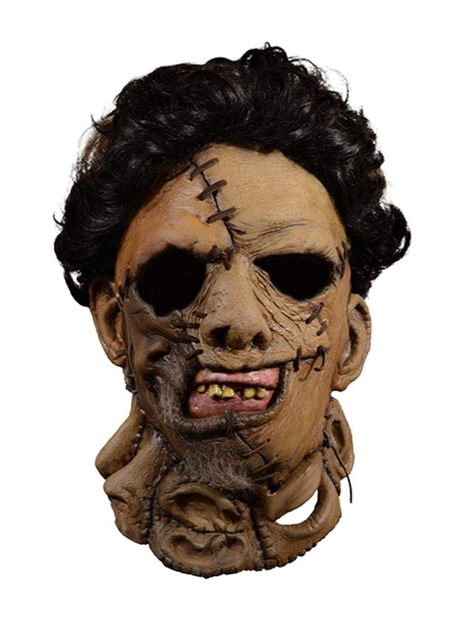 Trick Or Treat Studios Texas Chainsaw Massacre 2 Deluxe Leather Face Mask Standard