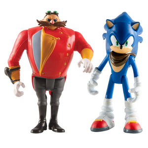 Sonic The Hedgehog T22502A4SONICEGGMAN 3-Inch Sonic Boom and Eggman Articulated Figures (Pack of 2)