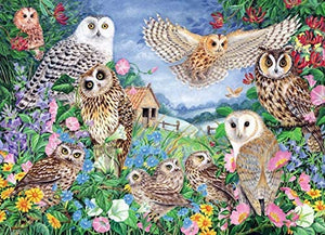 Jumbo 11286 Falcon de luxe - Owls in the Wood 1000 piece Jigsaw Puzzle