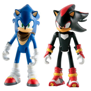 Sonic The Hedgehog 3-Inch Sonic Boom Sonic and Shadow Articulated Figures (Pack of 2)