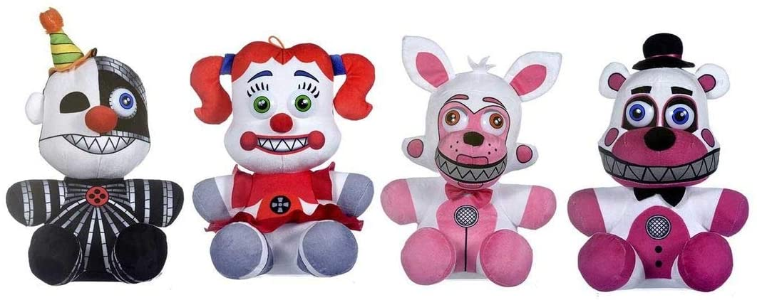 OFFICIAL Five Nights at Freddy's Plush FULL SET Funtime Freddy Foxy Baby Ennard