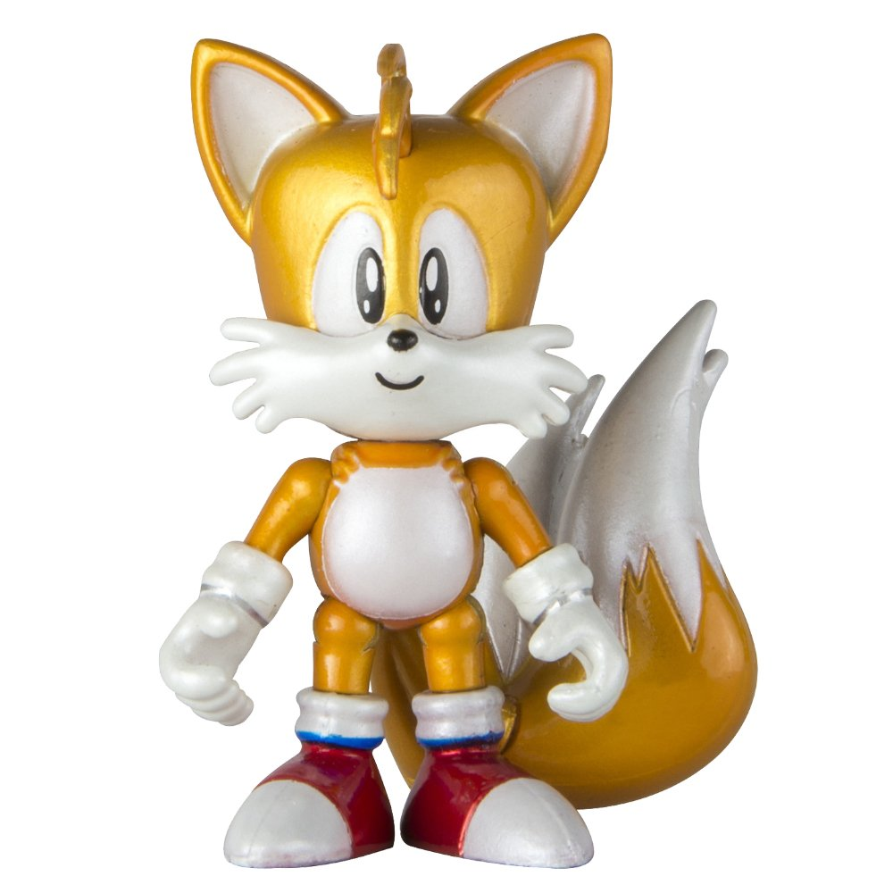 Sonic The Hedgehog T22528SONIC TAILS NEW 25th Anniversary Classic, 3-Inch Collectors Figure