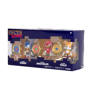 "Sonic T22050 Tomy 3"" figures with coins"