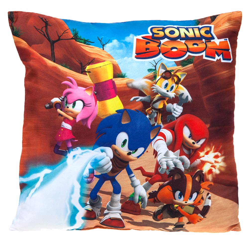 Sonic Boom 302101 Sonic the Hedgehog & Friend Cushion Pillow, Multicolour, 35cm