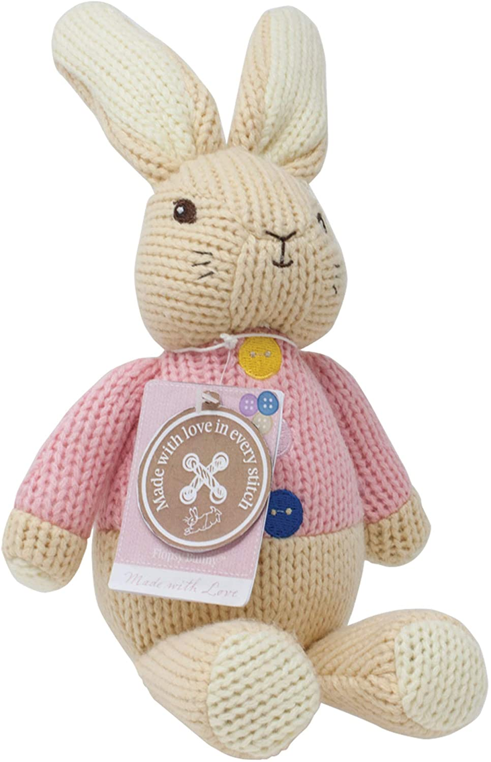 Rainbow Designs Made with Love Peter Rabbit and Flopsy Deluxe Hand Knitted Set