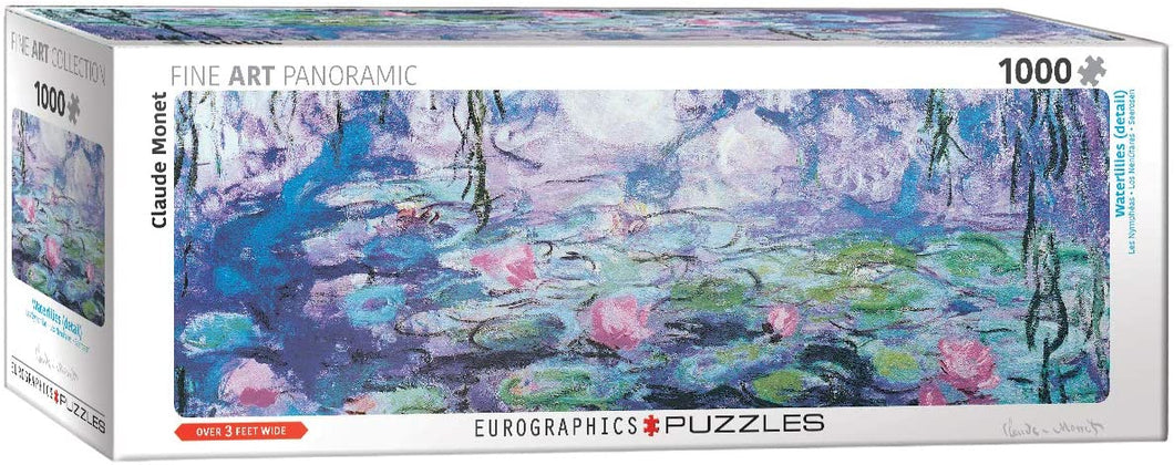 Eurographics Water Lilies Panoramic 1000 Piece Puzzle