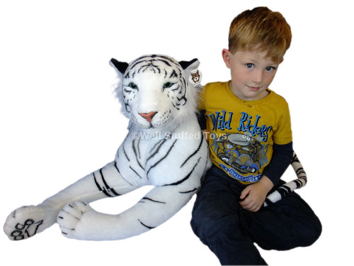 Deluxe Paws Large Plush White Tiger Soft Toy 160cm 63