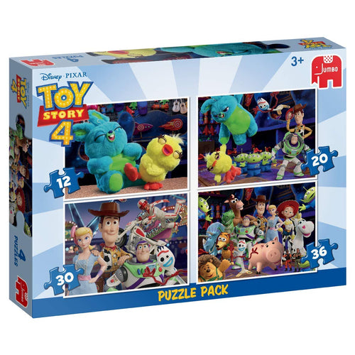 BOX DAMAGED - Jumbo 19752 Disney Pixar Toy Story 4-4 in 1 Puzzle Pack 4-4 in 1, Multi