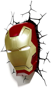 Marvel Iron Man 3d Wall Light