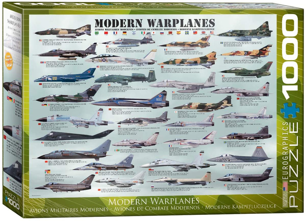 EuroGraphics Modern Warplanes Puzzle (1000 Pieces)