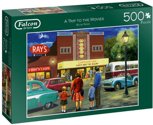 Jumbo 11240 Falcon de Luxe-A Trip to The Movies 500 Piece Jigsaw Puzzle