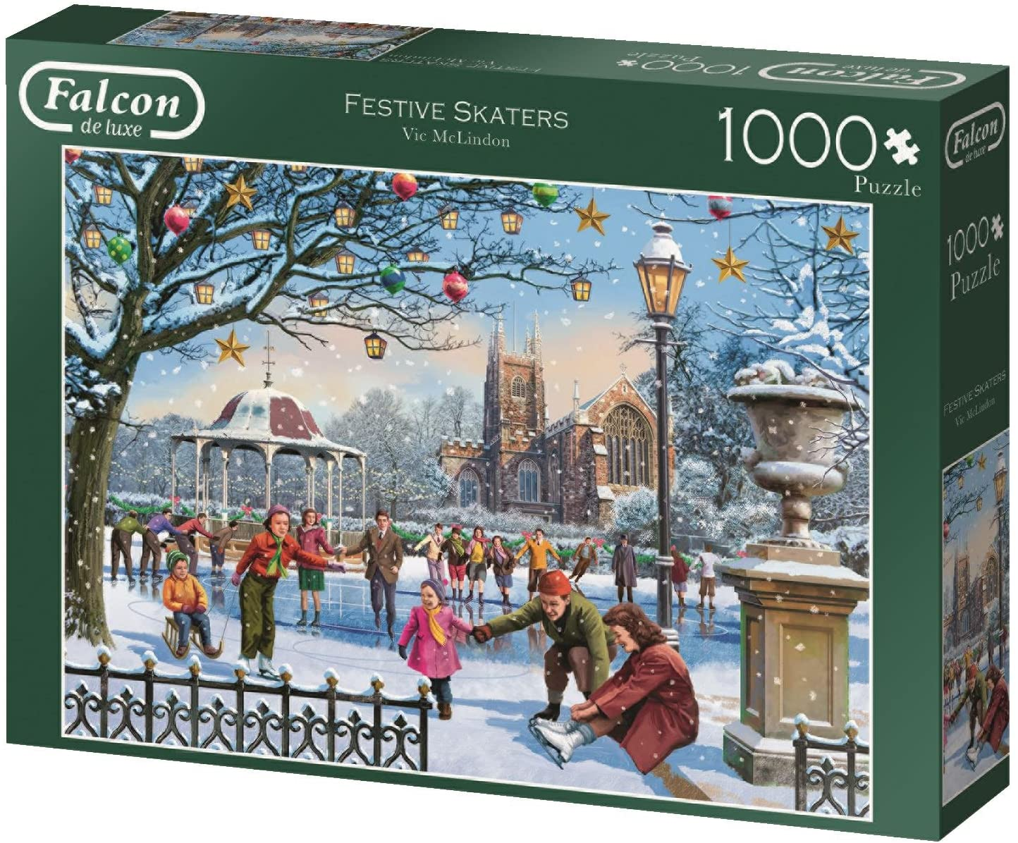Jumbo 11185 Festive Skaters Jigsaw Puzzle 1000 Pieces