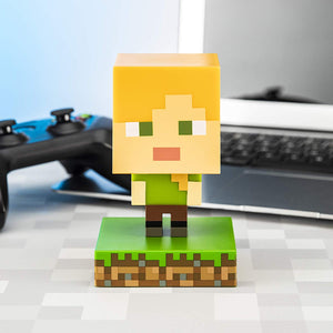 Paladone Minecraft Alex Icon Light BDP | Mini Night Lamp Fun Pixelated | Super Bright Collectable, Multi Coloured [Energy Class A]