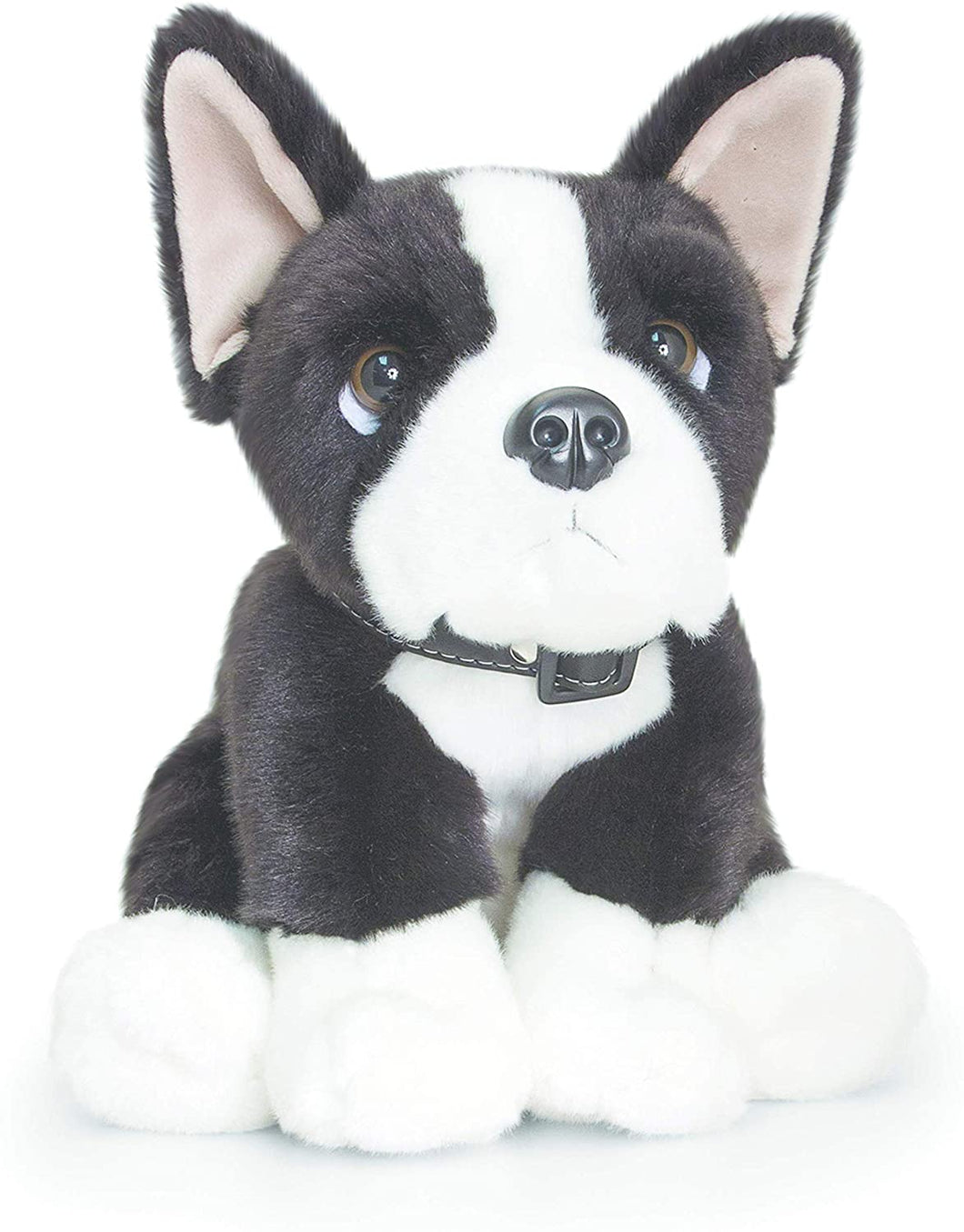 Keel Toys SD0472 Boston Terrier Soft Toy, Brown, 35 cm