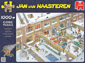 "Jumbo Jan van Haasteren ""Christmas Eve"" jigsaw Puzzle (1000-Piece, Multi-Colour)"