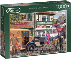 Jumbo 11217 Falcon de Luxe-Morning Deliveries 1000 Piece Jigsaw Puzzle