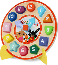 Bing 1017 Puzzle Clock with Stand, Wooden Toy