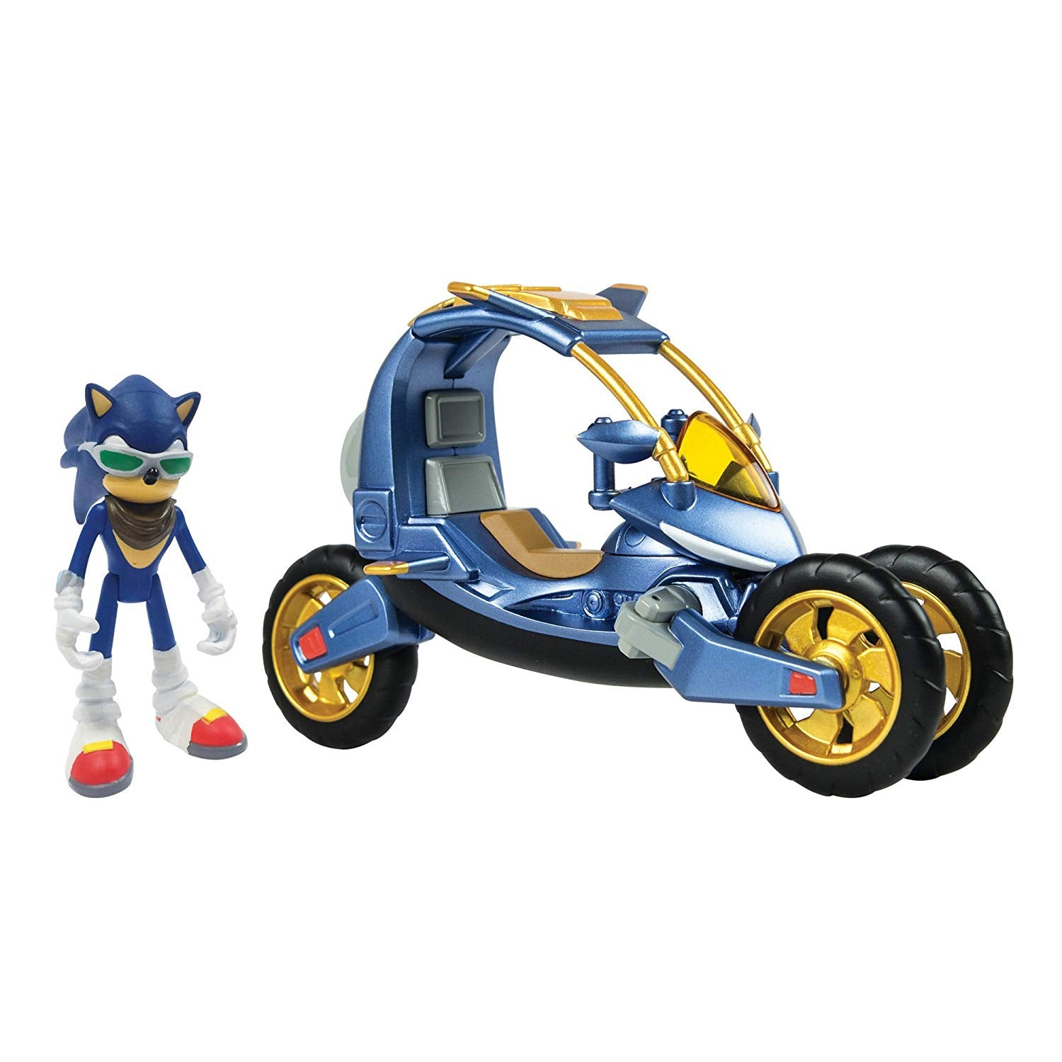 BOX DAMAGED - Sonic The Hedgehog - Blue Force One Sonic Boom Action Figure and Vehicle Play Set - Suitable From 4 Years