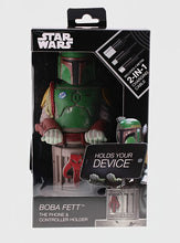 STAR WARS COLLECTABLE BOBA FETT 8 INCH CABLE GUY CONTROLLER AND SMARTPHONE STAND