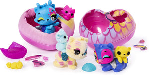 HATCHIMALS CollEGGtibles, Pet Obsessed Pet Shop Multi-Pack with 3 CollEGGtibles, 3 Pets and Accessories (Styles May Vary)