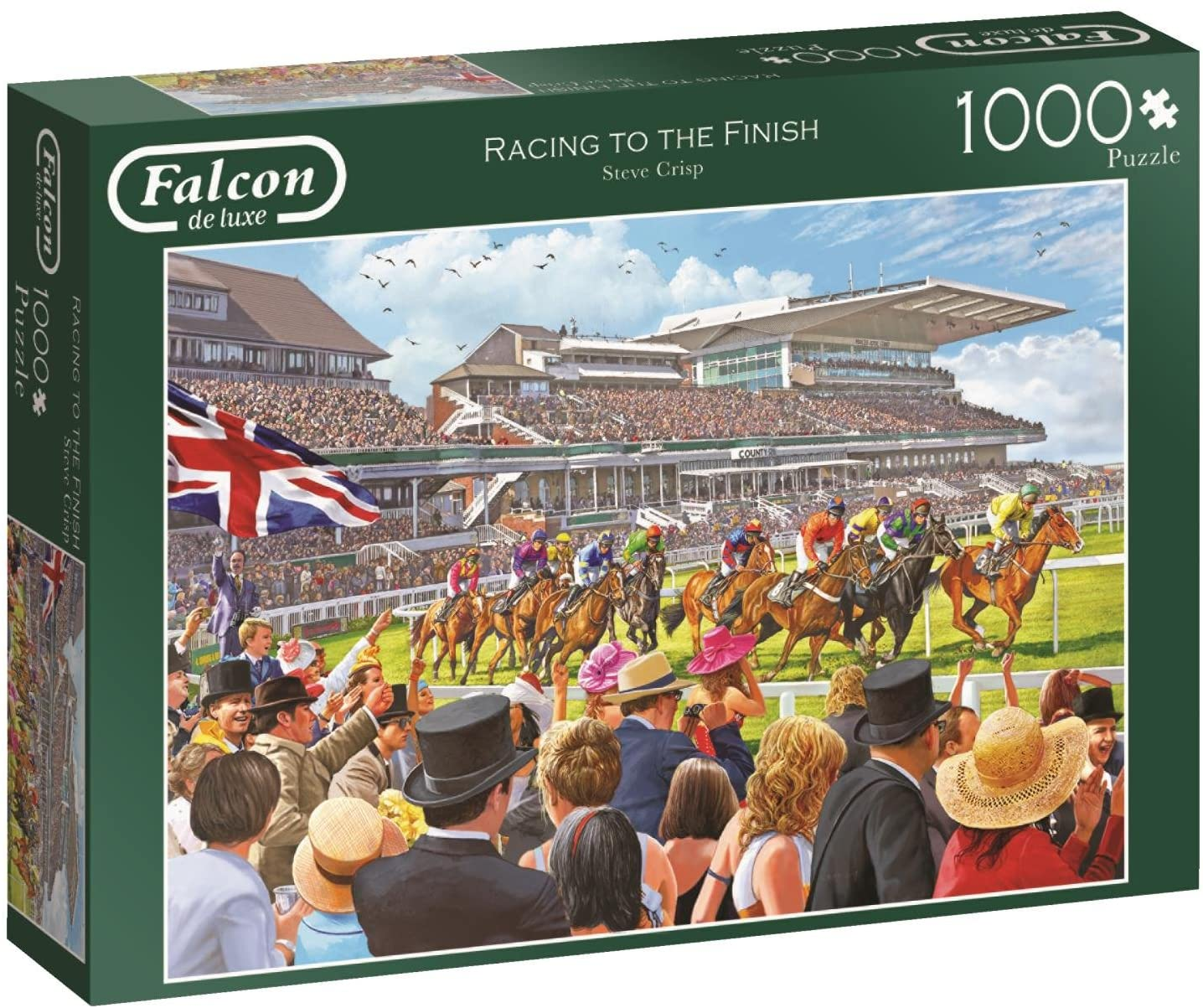 Jumbo 11202 Falcon de Luxe Racing to The Finish 1000 Piece Jigsaw Puzzle