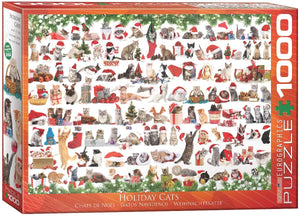 EuroGraphics 6000-0940 Holiday Cats Jigsaw Puzzle