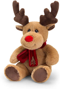 Keel Toys SX6364AM Soft Toy Keeleco Reindeer with Scarf