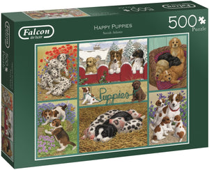 Jumbo 11219 Falcon de Luxe-Happy Puppies Jigsaw Puzzle 500 Piece